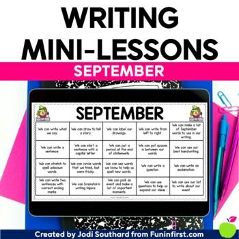 Writing Mini-Lessons for September