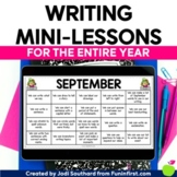 First Grade Writing Mini-Lessons for the ENTIRE Year