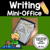 Writing Mini-Office {A Set of Visual Supports for Little Writers}
