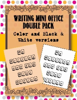 Writing Mini Office/Writer's Notebook Resource:Color & Black/White Versions