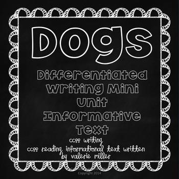 Writing Mini Unit- Dogs