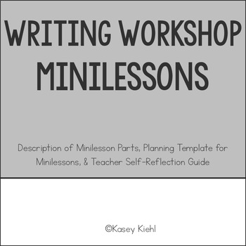 Writing Minilessons For Middle School To Use In Writing Workshop By
