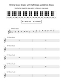Writing Minor Scales using Half Steps and Whole Steps