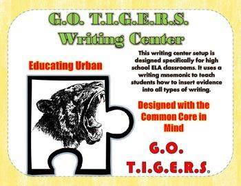 Writing Mnemonic for High School ELA - G.O. T.I.G.E.R.S.