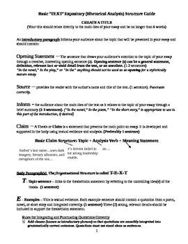 Writing Model for Rhetorical Analysis Essays