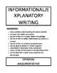 Writing Modes/Purposes - Descriptors