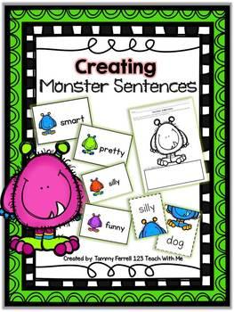 Writing Monster Sentences: Adjective Activities