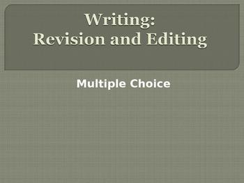 Writing Multiple Choice