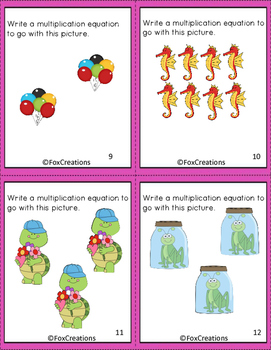 Writing Multiplication Expressions ~ Task Cards