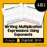 Writing Multiplication Expressions Using Exponents | Googl