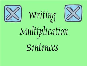 Writing Multiplication Sentences - Smartboard