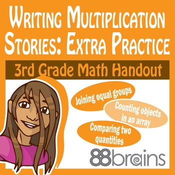 Writing Multiplication Stories: Extra Practice pgs. 20-22 (CCSS)