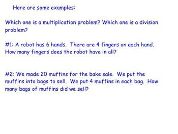 Writing Multiplication and Division Number Stories