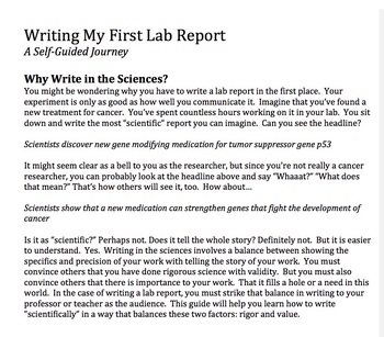 Writing My First Lab Report - A Self-Guided Journey