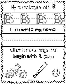 Writing My Name (Preschool & Kindergarten)
