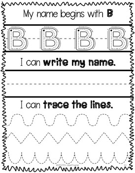 Writing Name Practice: Writing My Name (Preschool & Kindergarten)