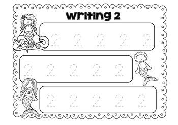 Writing My Numerals - Mermaid
