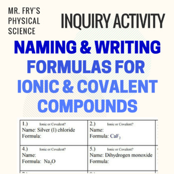 Writing & Naming Formulas for Ionic & Covalent Compounds  HS-PS1-1