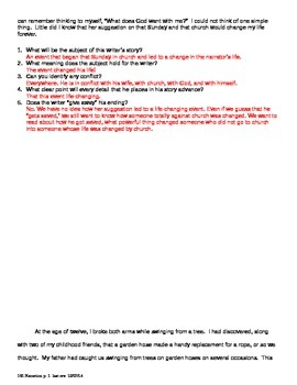 Writing: Narration Handout and Interactive Exercise