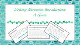 Writing Narrative Introductions Mini Lesson