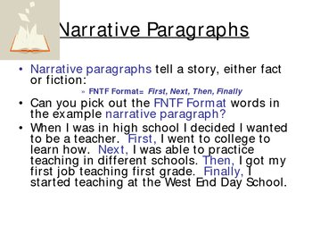 Writing Narrative Paragraph... by Jacklyn Loester | Teachers Pay ...