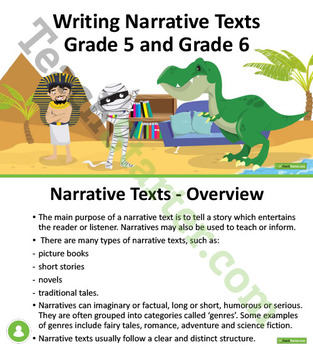 Writing Narrative Texts Unit Plan – Year 5 and Year 6