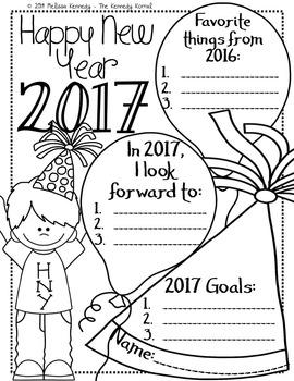 New Years' Goal Writing {Three Writing Options}