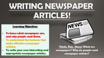 Writing Newspaper Articles!