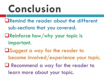How To Write Nonfiction: Conclusions (Practice + Mentor Texts + Presentation)