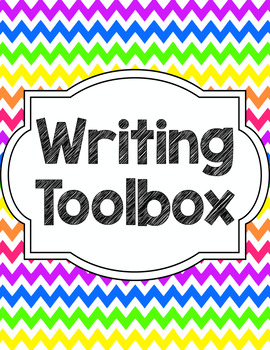 Writing Tools Notebook in Bright Chevron (Gray and White Version Included)