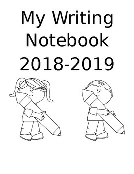 Writing Notebook Cover (Editable)