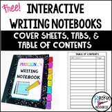 Writing Notebook Cover Pages, Tabs, and Table of Contents