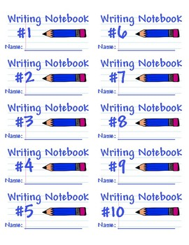 Student Writing Notebook Labels - Printable on Avery 5163