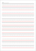Writing Notebook for Lower Elementary (A4 Size)