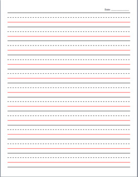 Writing Notebook for Lower Elementary (Letter Size)