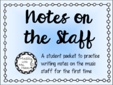 Writing Notes on the Music Staff
