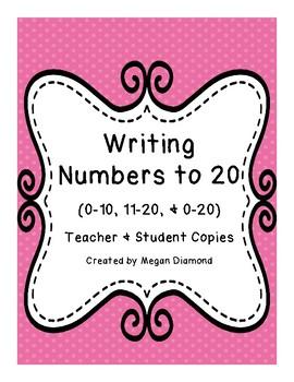 Writing Number 0-20 Progress Monitoring Forms