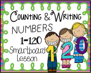 Counting and Writing Numbers 1-120 Smartboard Lesson