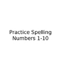 Writing Number Words 1 - 10
