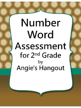 Writing Number Words Assessment for 2nd