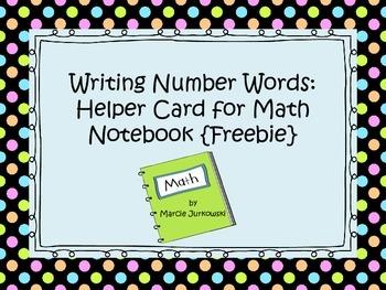 Writing Number Words Help Printable Card