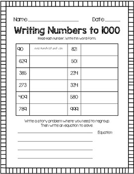 writing numbers in words
