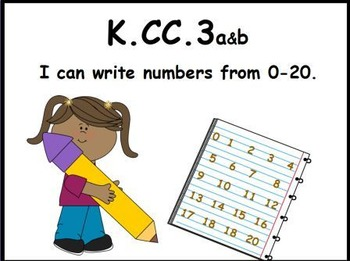 Writing Numbers 0-20 Math Center (K.CC.3)