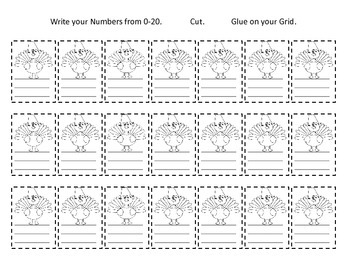 Writing Numbers 0-20 / Thanksgiving Themed Number Writing Practice