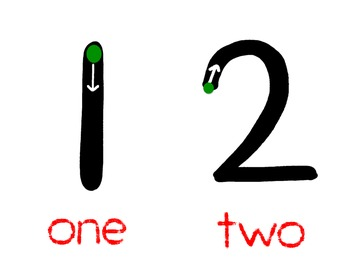 Writing Numbers 1-10