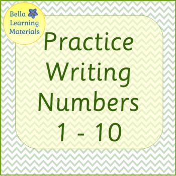 Writing Numbers 1 - 10