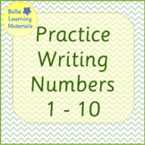 Writing Numbers 1 - 10