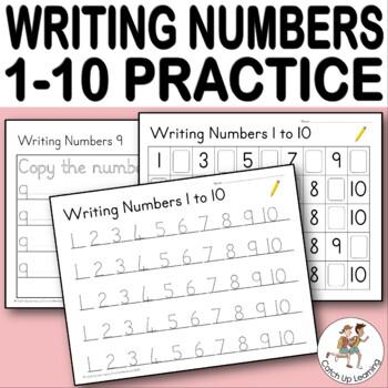 {Writing Numbers 1-10} {kindergarten counting ...