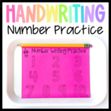 Writing Numbers 1-10 Number Formation Handwriting Practice Tracing Worksheets