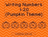 Writing Numbers 1-20 (Pumpkin Theme)